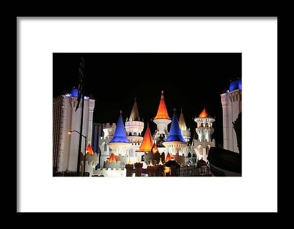 Vegas Framed Print featuring the photograph Excalibur by Rich Tanguay