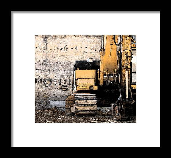 Construction Framed Print featuring the photograph Excavator by Gary Everson