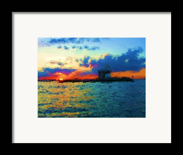 Framed Print featuring the painting Execution Light Bronx New York by Jonathan Galente