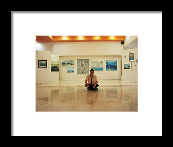 Framed Print featuring the photograph Exhibition Pza. Pelicanos by Angel Ortiz