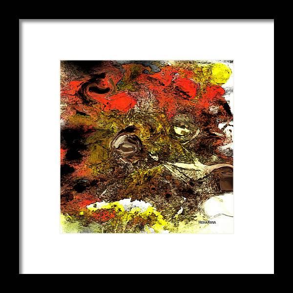 Digital Art Framed Print featuring the digital art Exotic Creature by Hema Rana