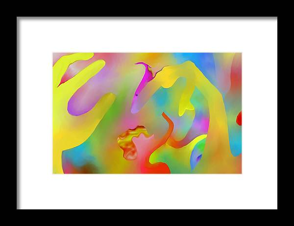 Colorful Framed Print featuring the digital art Exotic Creature by Peter Shor