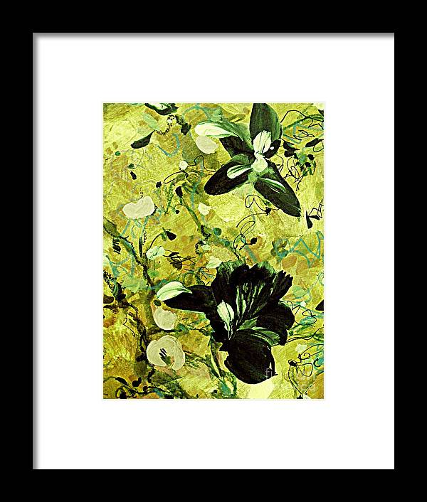 Abstract Floral Painting Framed Print featuring the painting Exotic by Nancy Kane Chapman