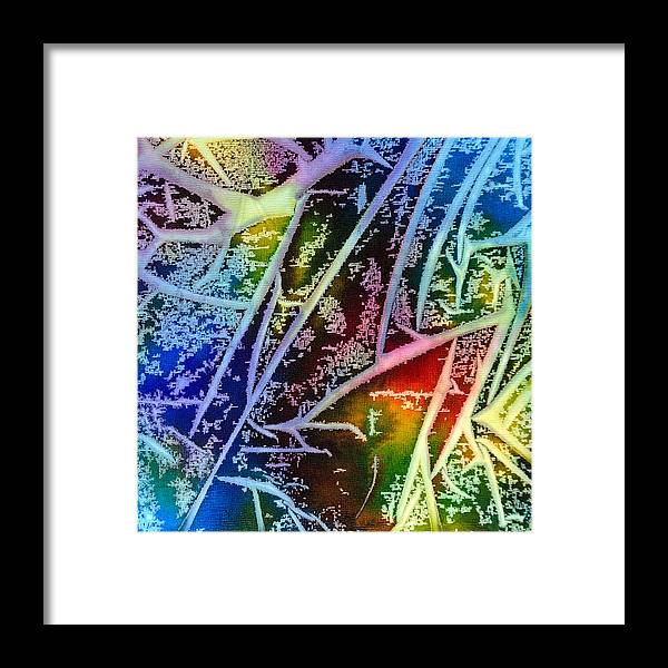 Abstract Framed Print featuring the painting Expanding Awareness - A - by Sandy Sandy