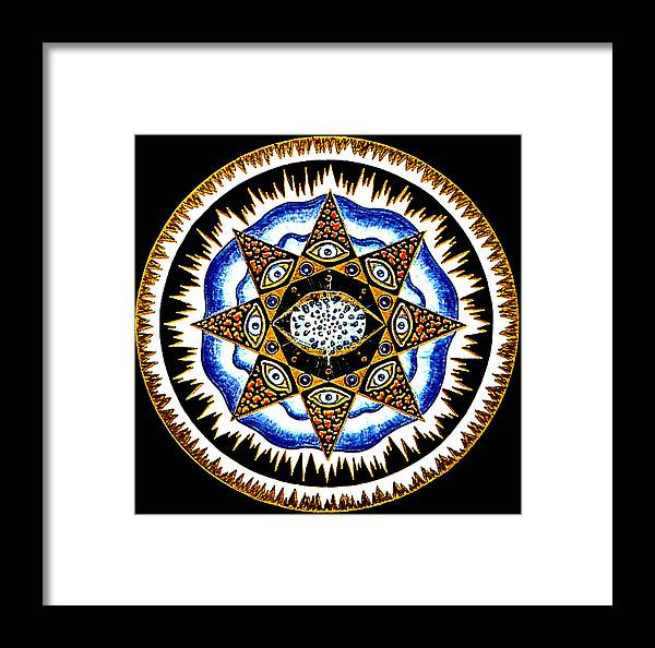 Mandala Framed Print featuring the painting Expanding Consciousness by Pam Ellis