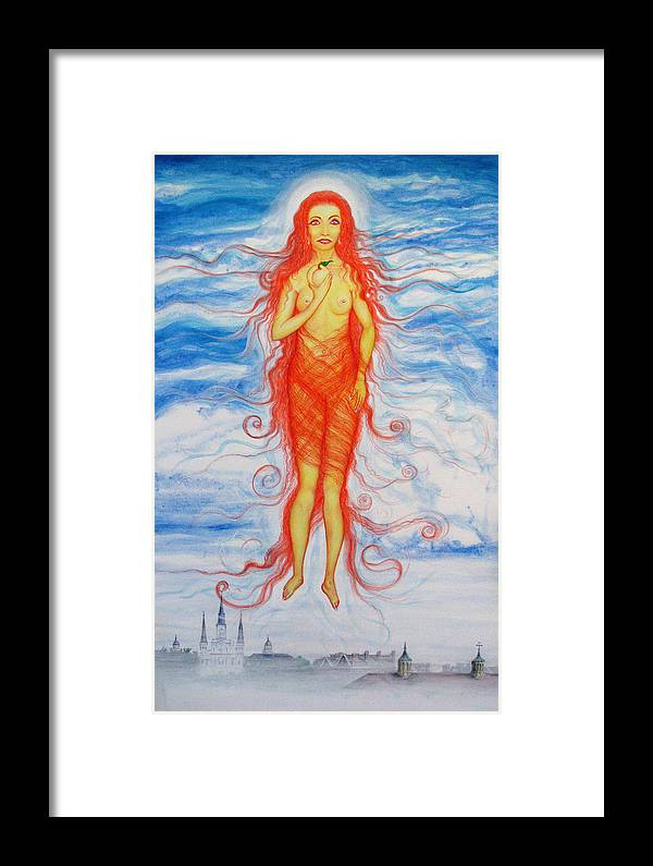 Goddess Framed Print featuring the painting Expectance by Tom Hefko