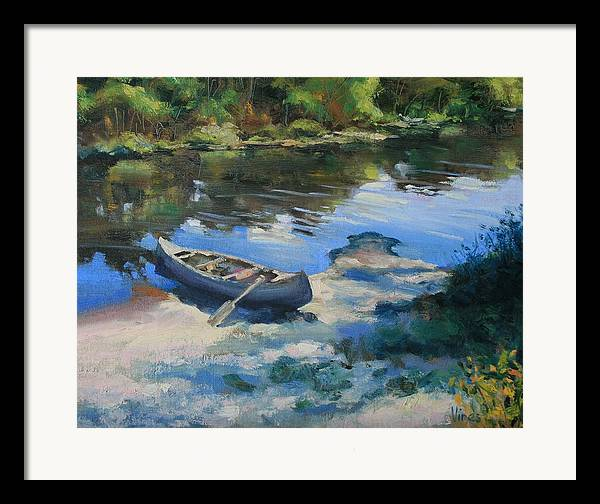 Oil Painting Framed Print featuring the painting Expedition by Michael Vires