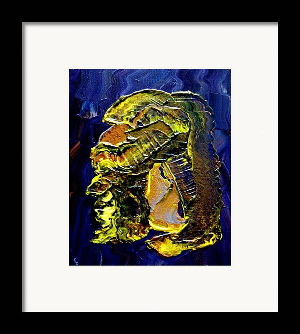 Man Framed Print featuring the painting Exposure by Karen L Christophersen