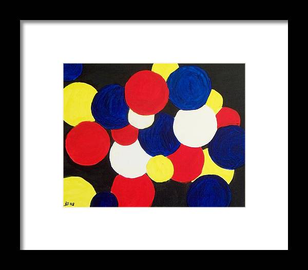 Abstract Framed Print featuring the painting Expression 829 by Rod Schneider