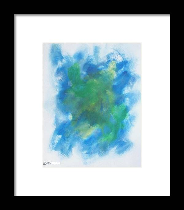 Abstract Framed Print featuring the painting Expression 912 by Rod Schneider