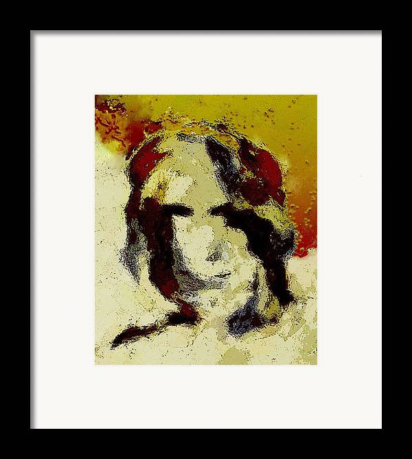Abstract Framed Print featuring the mixed media Expression by LeeAnn Alexander