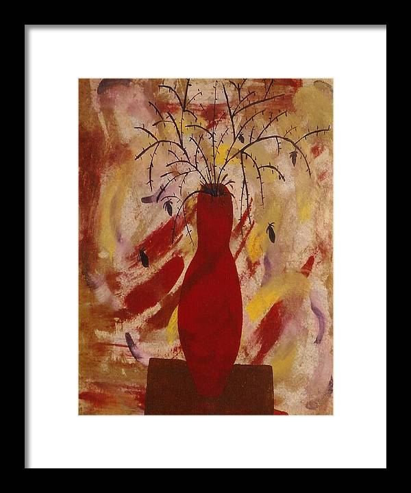 Expressions Framed Print featuring the painting Expression Series Number One by Ruth El