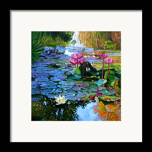 Landscape Framed Print featuring the painting Expressions From The Garden by John Lautermilch
