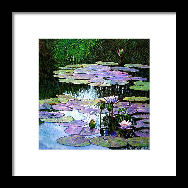 Landscape Framed Print featuring the painting Expressions Of Love And Peace by John Lautermilch