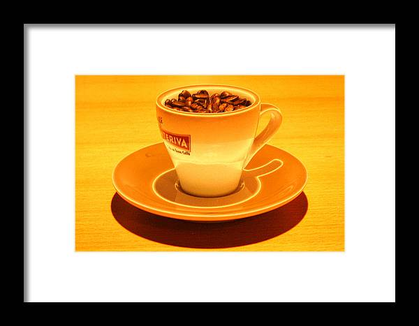 Cafe Framed Print featuring the photograph Expresso.piccolo.arancione by Robert Litewka