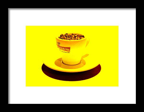 Cafe Framed Print featuring the photograph Expresso.piccolo.giallo by Robert Litewka