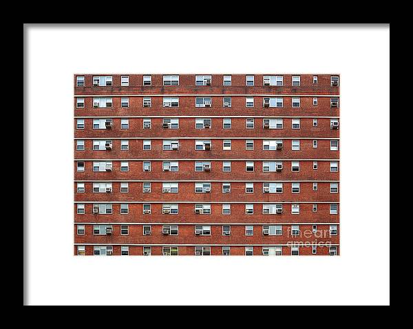 Palace Framed Print featuring the photograph External Facade With Many Windows All Identical. by Antonio Gravante