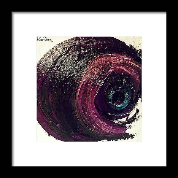 Eyes Framed Print featuring the painting Eye Abstract II by ElReco Ramon