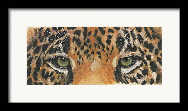 Jaguar Framed Print featuring the painting Eye-catching Jaguar by Barbara Keith