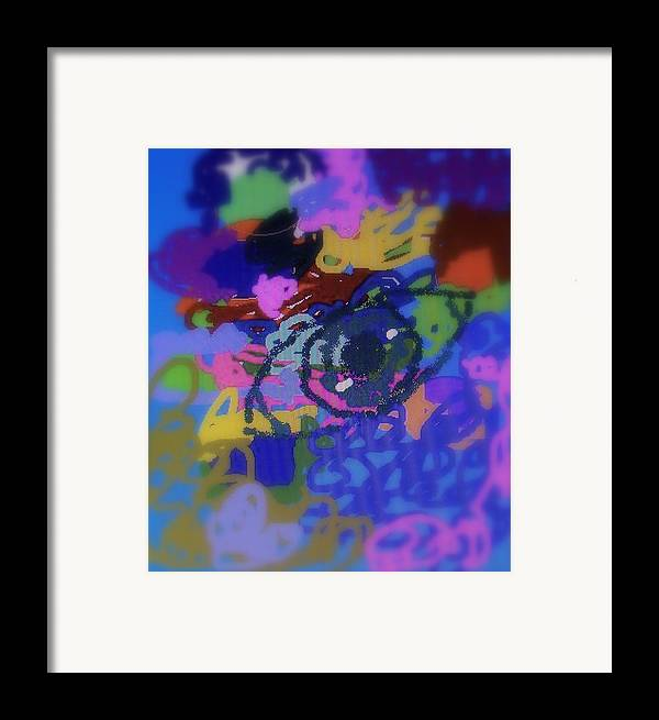 Abstract Framed Print featuring the digital art Eye by Cybele Chaves