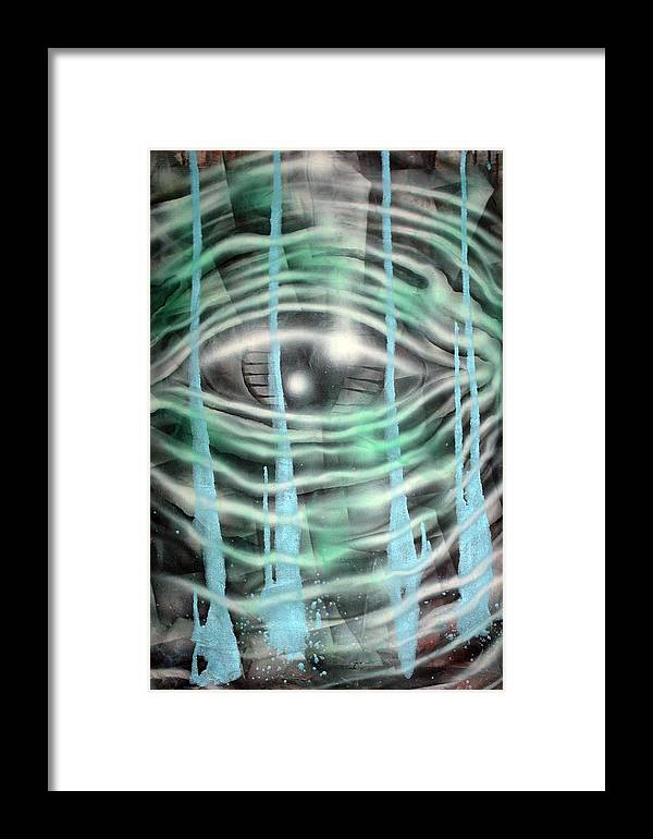 Surreal Framed Print featuring the painting Eye Knew by Leigh Odom