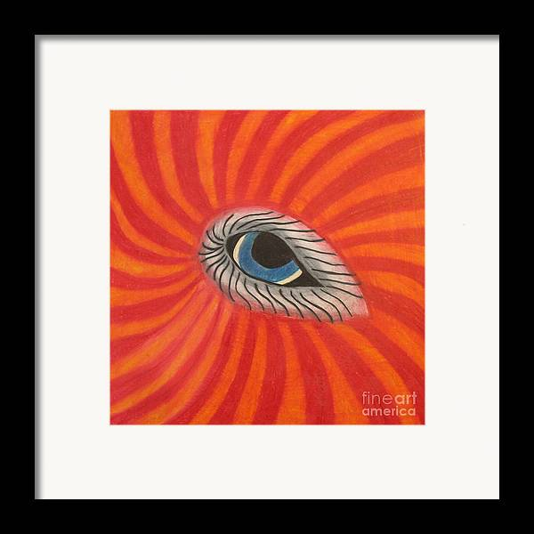 Eye Framed Print featuring the drawing Eye Of The Beholder by Juli House