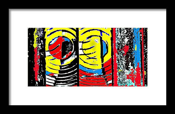 Abstract Framed Print featuring the photograph Eye Of The Lighthouse by Paul Freidin