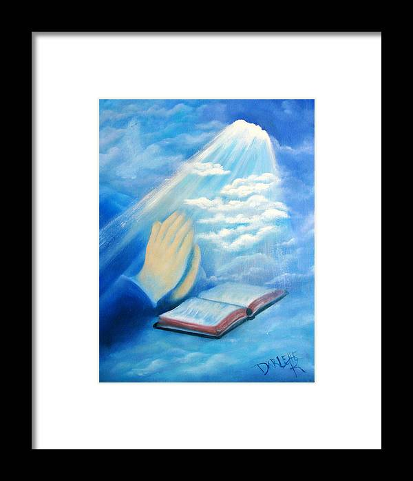 Dove Framed Print featuring the painting Eye Of The Lord by Darlene Green