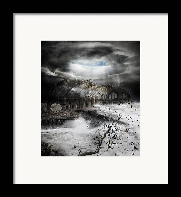Hurricane Framed Print featuring the digital art Eye Of The Storm by Mary Hood