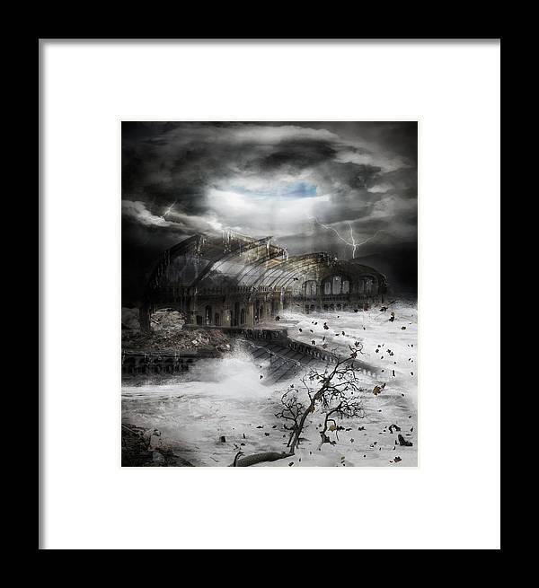Hurricane Framed Print featuring the digital art Eye Of The Storm by Karen Koski