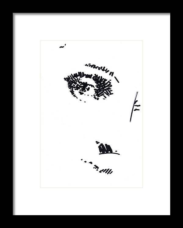 Eye Framed Print featuring the drawing Eye by Peter Jochems