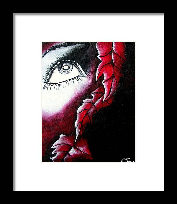Eyes Framed Print featuring the painting Eye See Red by Aoife Joyce