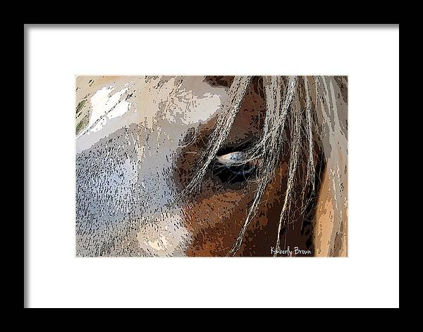 Eye Framed Print featuring the photograph Eye See You by Kimberly Brown