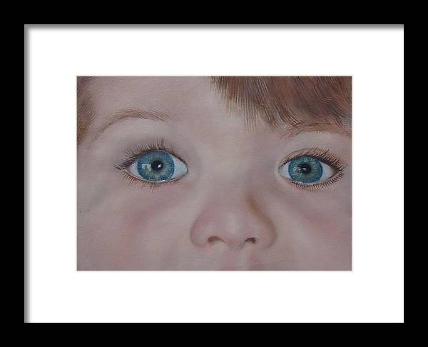 Eyes Framed Print featuring the painting Eyes Of A Child by Darlene Green