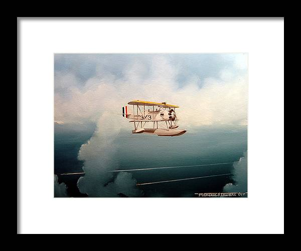 Military Framed Print featuring the painting Eyes Of The Fleet by Marc Stewart