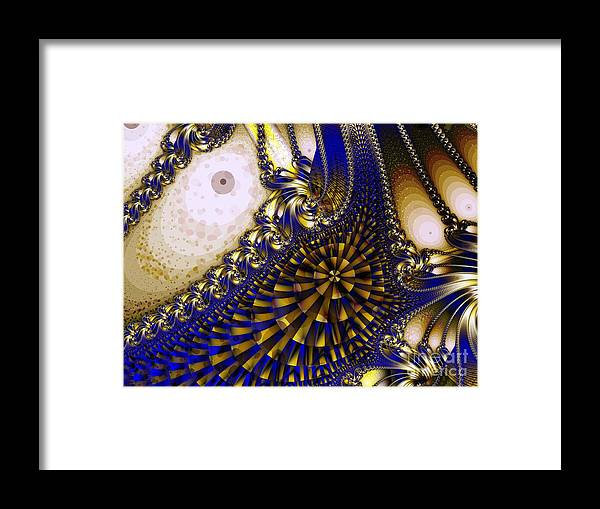 Eyes Framed Print featuring the digital art Eyes by Ron Bissett
