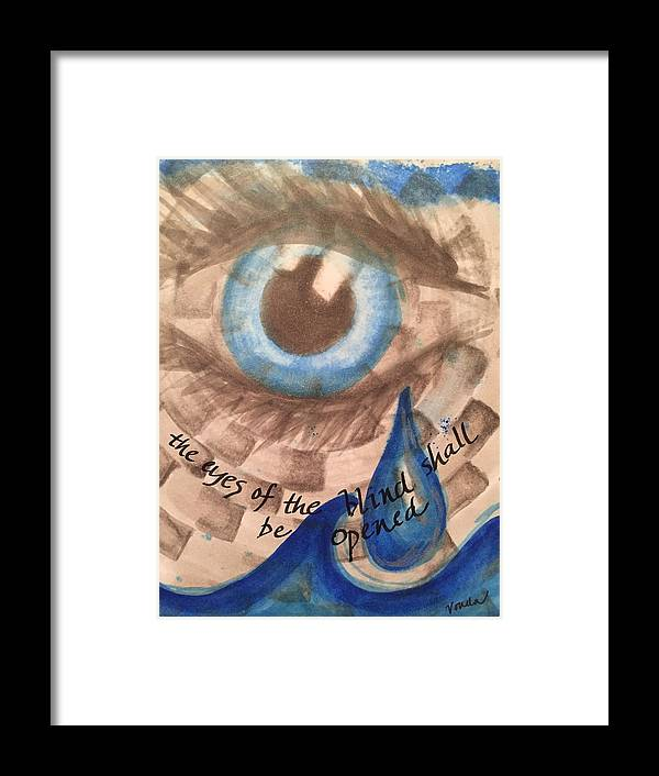 Eye Framed Print featuring the painting Eyes Shall Be Opened by Vonda Drees