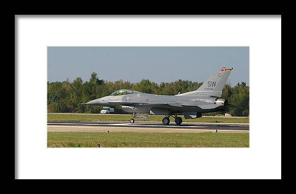 F-16 Framed Print featuring the photograph F-16 Falcon by Donald Tusa
