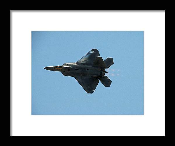 F-22 Framed Print featuring the photograph F-22 Raptor by Chaz McDowell