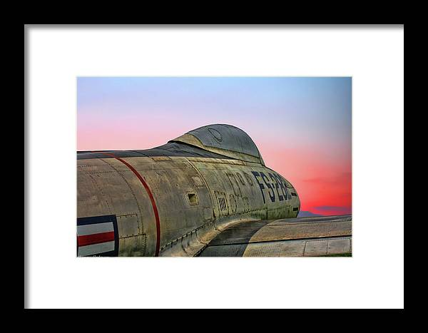 Republic F-84g Thunderjet Framed Print featuring the photograph F-84g Thunderjet by Tommy Anderson