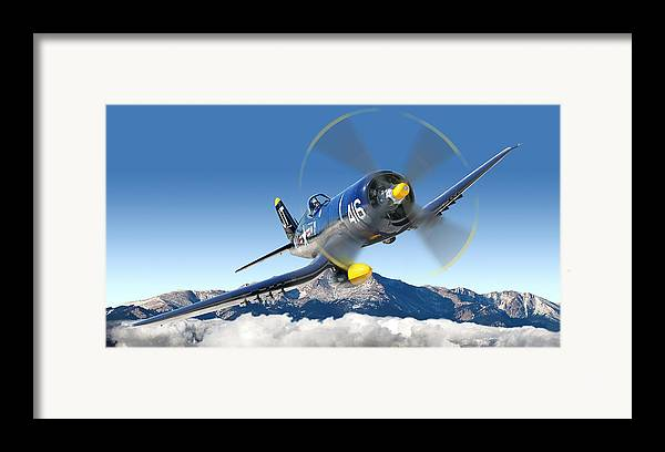 F4-u Corsair Framed Print featuring the photograph F4-u Corsair by Larry McManus