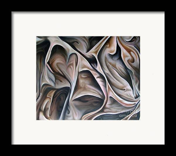 Still Life Framed Print featuring the painting Fabric Study by Susan Clausen