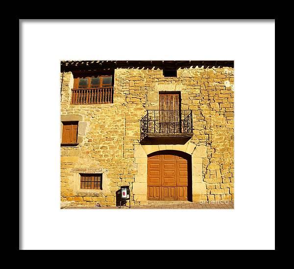 Facade Framed Print featuring the photograph Facade by Alfredo Rodriguez
