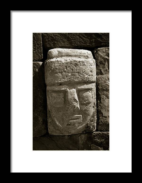 Tihuanaco Framed Print featuring the photograph Face by Amarildo Correa