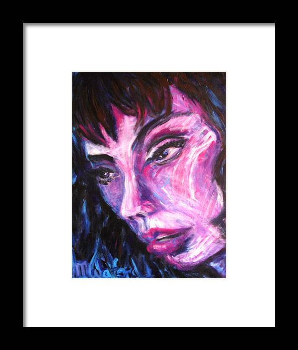 Portrait Framed Print featuring the painting Face Down by Jenni Walford