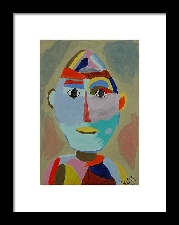 Caricaure Framed Print featuring the painting Face by Harris Gulko