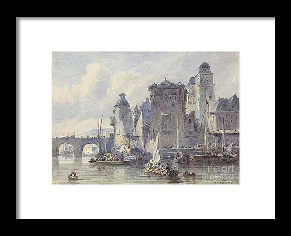 Face Koblenz Framed Print featuring the painting Face Koblenz by Celestial Images