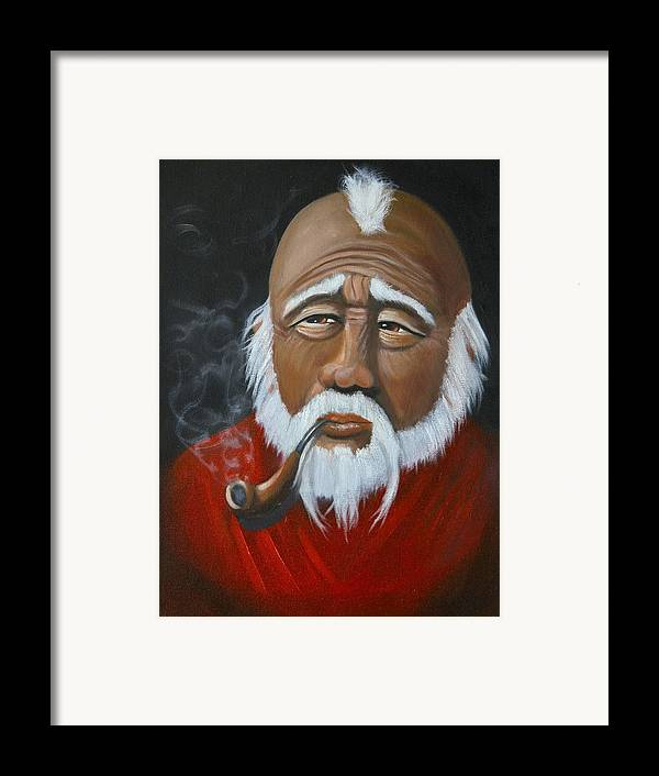 People Framed Print featuring the painting Face Of Asia by Joni McPherson