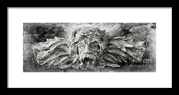Sculpture Framed Print featuring the digital art Father Time 2 by Gina Geldbach-Hall