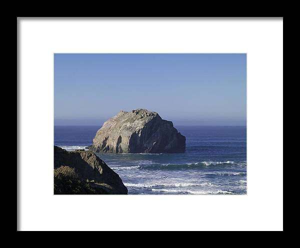 American Framed Print featuring the photograph Face Rock by Sanda Kateley